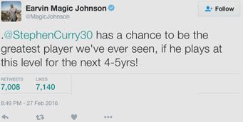 Magic Johnson tweet on twitter