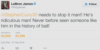 Tweet by Lebron King James on Twitter
