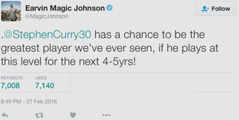 Magic Johnson tweet on twitter